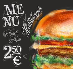 hamburger, burger vector logo design template. fast food or menu