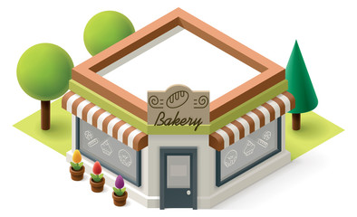 Vector isometric bakery