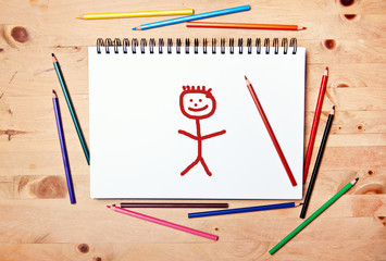 stickman background - drawing block - only man