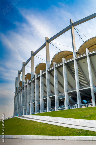 Foto op Canvas Stadion The modern building of National Arena in Bucharest Romania