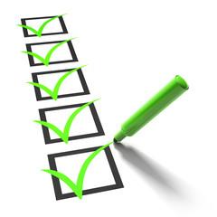 Checkliste Grün