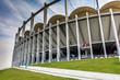 Leinwanddruck Bild - The modern building of National Arena in Bucharest Romania