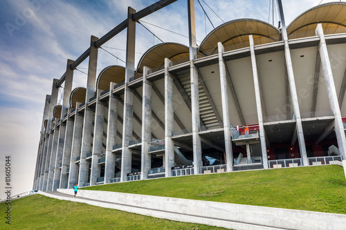 Deurstickers Stadion The modern building of National Arena in Bucharest Romania