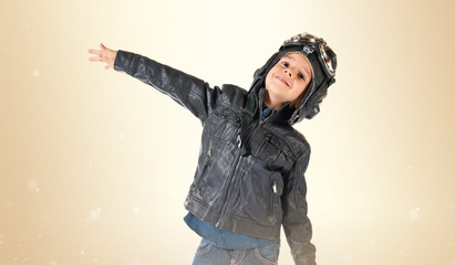 Kid dressed as aviator