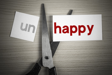 Cut happy from unhappy