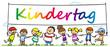Leinwanddruck Bild - Viele Kinder feiern Kindertag zusammen