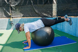 Prone hip extentions for glute strength poster