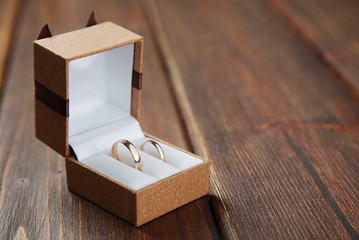 Wedding rings with case