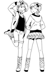 fashion twins girls teenagers