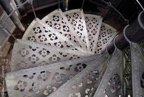 Tuinposter Trappen Wendeltreppe aus Eisen
