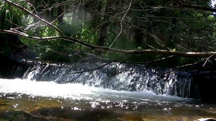 (Seamless Loop) Wide Waterfall Closeup