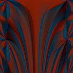 Orange blue abstract fractal wallpaper