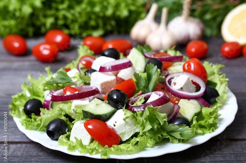 Fotobehang Salade Greek salad