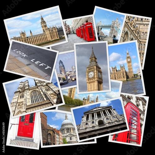 Fototapeta London, UK - travel collage