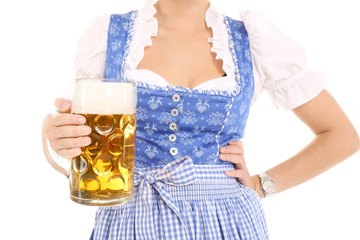 Frau in bayerischer Tracht