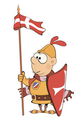 Illustration of a cartoon knight