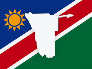 Map of Namibia.