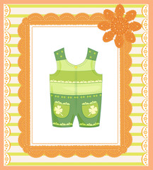 background with dungarees for baby
