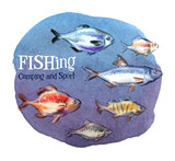 fishing vector logo design template. fresh fish or oceanarium