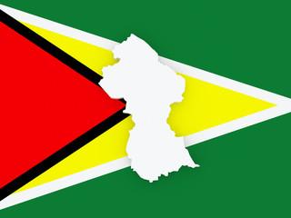 Map of Guyana.