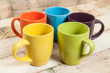 Color cups.