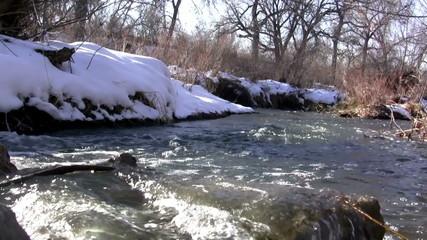 (Seamless Loop) Loop Seamless Snowmelt Stream Flowing