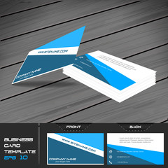 Business card or visiting card template, vector illustration