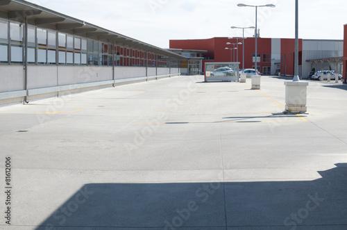Leinwanddruck Bild Rooftop Parking Lot