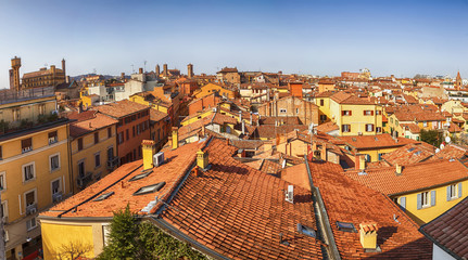 panorama of Bologna roofs