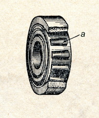 Roller bearing with tapered rollers
