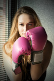 Blonde Boxing Woman - 81612647