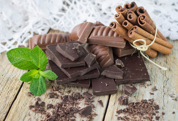 Chocolate, cinnamon and mint