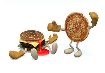 hamburger vs pizza: the winner is pizza