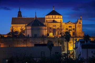 La Mesquita Cathedral of Cordoba, Andalusia at sunset