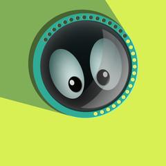 Comic spying  Eyes. Eyeballs vector. Staring - Surprised