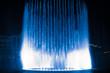 Leinwanddruck Bild - beautiful dancing fountain illuminated at night