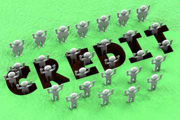 Financial concept - credit pit