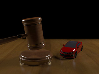 Judicial proceedings for a car