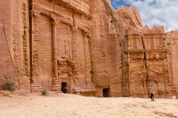 Petra, ancient city-necropolis, carved into rock