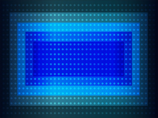 Abstract blue background with many dots