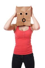 shocked paper bag girl