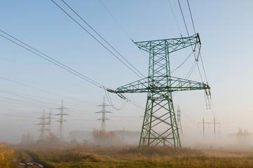 landscape with High-voltage power line