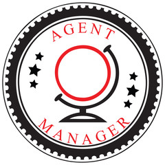 Symbol of a travel agent or manager