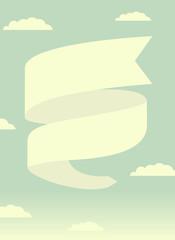 il cielo con un banner vettoriale