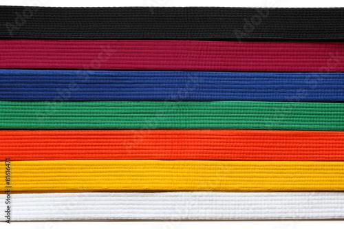 canvas print picture Taekwondo Belts