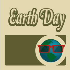 Earth Day, blue planet  planet with text