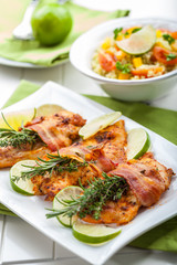 Chicken breast with herbs