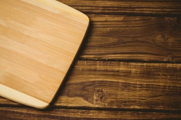 Wooden board on a table