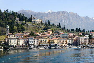 The village of Bellagio on lake Como