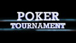 Poker Tournament Text with Alpha Channel, Loop